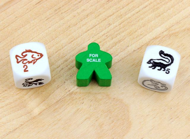 The Game Crafter - Board Game Pieces - D6 Species and Woodland Creatures Dice