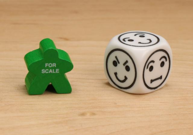The Game Crafter - Board Game Pieces - D6 Emotion Dice