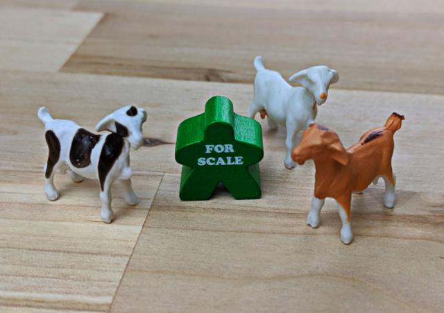 The Game Crafter - Board Game Pieces - Goats