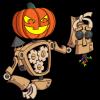 The Game Crafter - Halloween - Pumpkin Head Cog