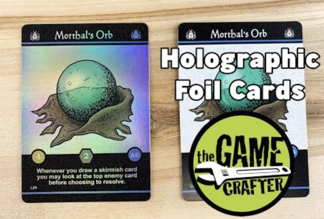 The Game Crafter - Custom Printed Game Components - Holographic Foil Cards are now available in Poker and Tarot Sizes!