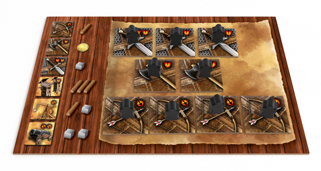 Wages of War player board with army