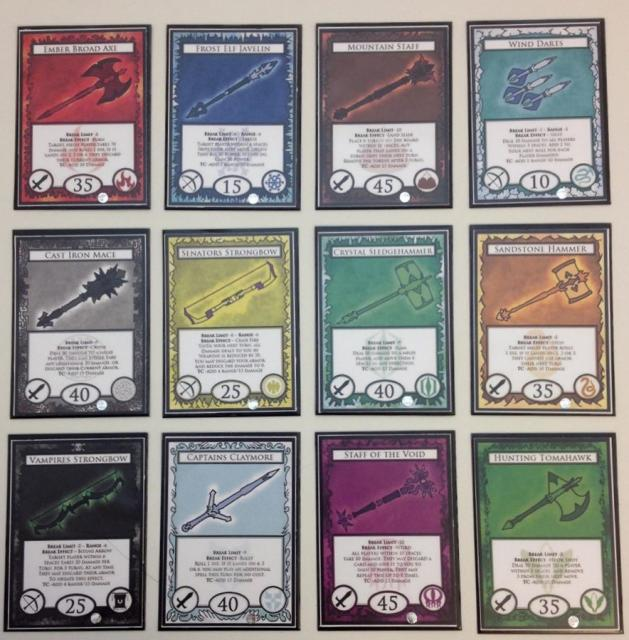 The 12 Towers, Item Cards