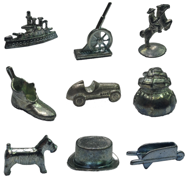 Monopoly Pawns - Vintage Game Parts - The Game Crafter