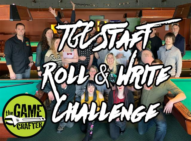 The Game Crafter - Board Game Design Contest - TGC Staff Roll and Write Challenge